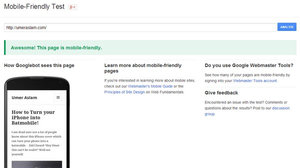 Make Sure your Website is Mobile Friendly